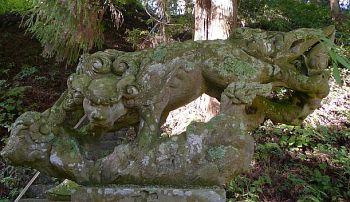 熊野神社の阿像